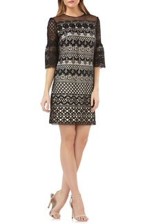 Carmen Marc Valvo Lace Shift Dress