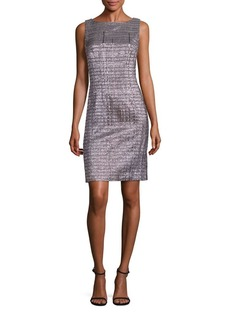 Carmen Marc Valvo Metallic Sheath Dress