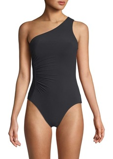 Carmen Marc Valvo One-Piece One-Shoulder Swimsuit
