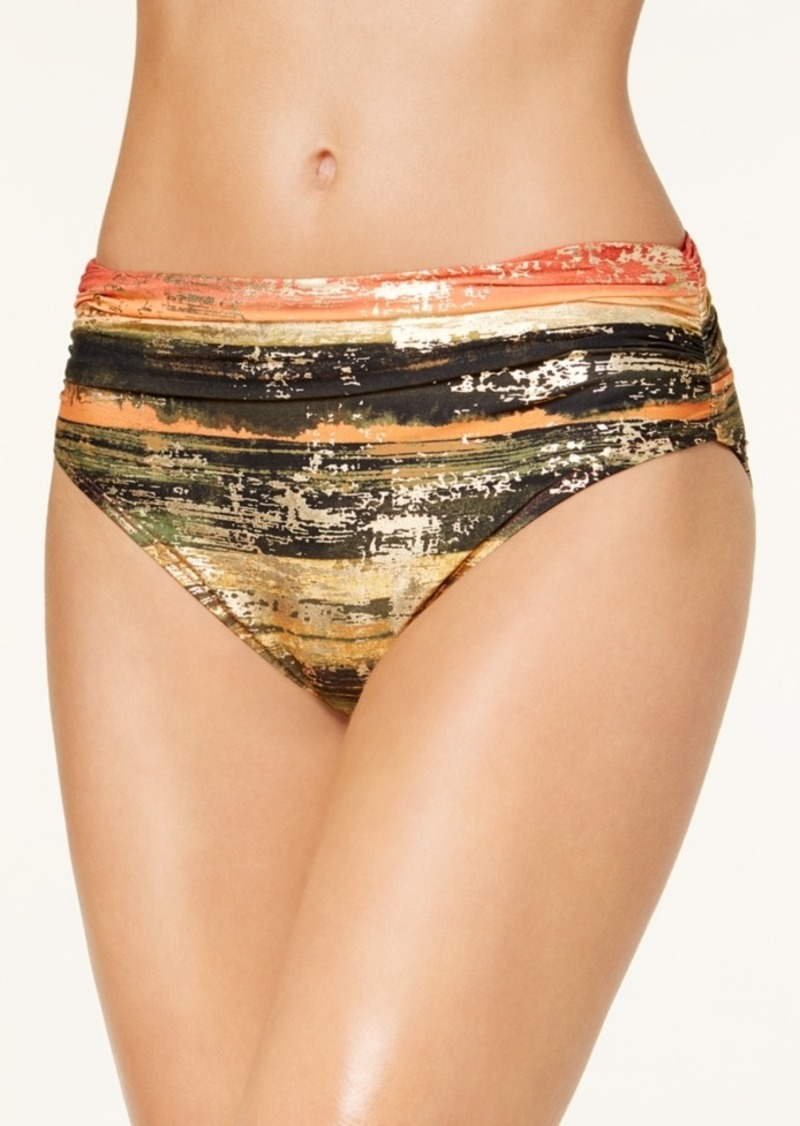ac26b74c3e54e Carmen Marc Valvo Pacific Sunset Metallic Bikini Bottoms Women's Swimsuit