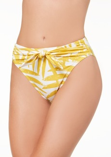 Carmen Marc Valvo Printed Front-Tie Bikini Bottoms Women's Swimsuit