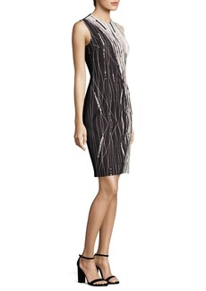 Carmen Marc Valvo Printed Sheath Dress