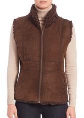 Carmen Marc Valvo Reversible Persian Lamb Fur Vest