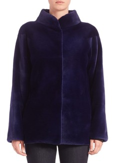 Carmen Marc Valvo Sheared Mink Fur Jacket