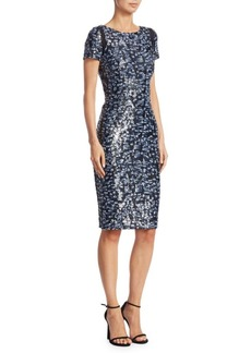 Silk Sequin Cocktail Dress
