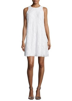 Carmen Marc Valvo Sleeveless Beaded Lace Swing Dress