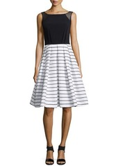 Carmen Marc Valvo Sleeveless Combo Dress