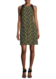 Carmen Marc Valvo Sleeveless Daisy Cocktail Dress