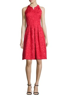 Carmen Marc Valvo Sleeveless Fit & Flare Cocktail Dress