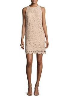 Carmen Marc Valvo Sleeveless Paisley Lace Cocktail Dress