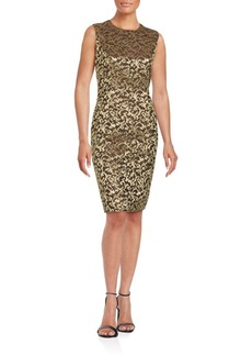 Carmen Marc Valvo Sleeveless Sheath Dress