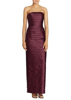 Carmen Marc Valvo Strapless Tiered Gown