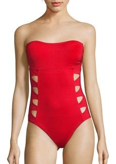 Carmen Marc Valvo Swimwear One-Piece Maillot Swimsuit