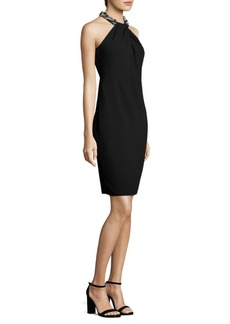 Carmen Marc Valvo Toga Cocktail Dress