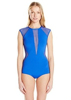 Carmen Marc Valvo Women's Aloha Sunrise Kayak Sleeveless One Piece Swimsuit