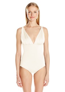 Carmen Marc Valvo Women's Over The Shoulder One Piece Swimsuit