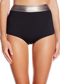 Carmen Marc Valvo Women's Cosmopolitan Shirley High Waist Bikini Bottom
