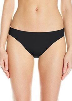 Carmen Marc Valvo Women's Lattice Solid Classic Bikini Bottom