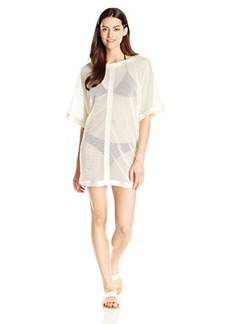 Carmen Marc Valvo Women's Mesh Tunic Cover Up