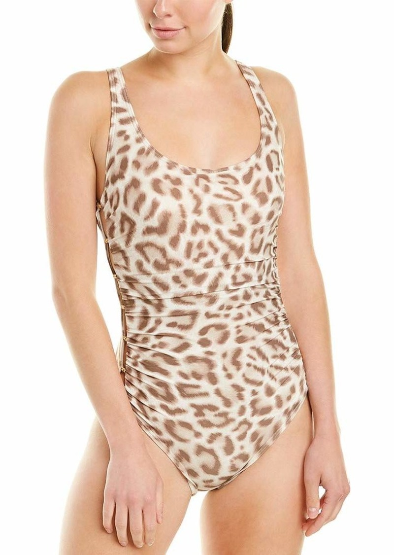 Carmen Marc Valvo Women's One Piece Swimsuit with Side Beading Detail