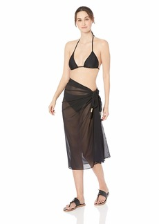 Carmen Marc Valvo Women's Pareo Swimsuit Cover up with Hardware Detail  one Size