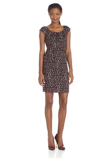 Carmen Marc Valvo Women's Polka Dot Pique Dress   US