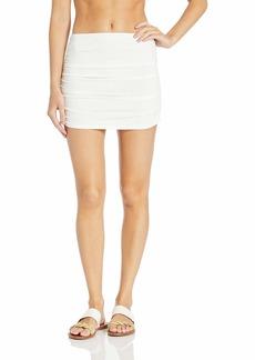 Carmen Marc Valvo Women's Shirred Skirted Swimsuit Cover up  L