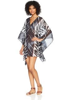 Carmen Marc Valvo Women's Short Sleeve Caftan Swimsuit Cover up