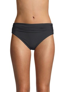 Carmen Marc Valvo Classic Shirred Bikini Bottom