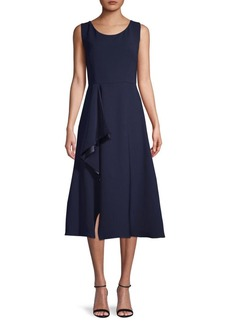 Carmen Marc Valvo Crepe Fit & Flare Dress