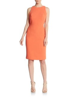 Carmen Marc Valvo Cutout Back Sheath Dress