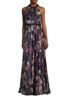 Floral Halter Gown