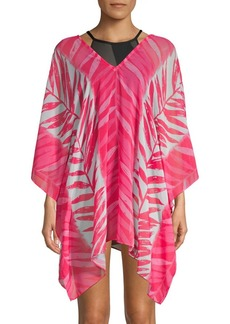 Carmen Marc Valvo Graphic Caftan Cover-Up