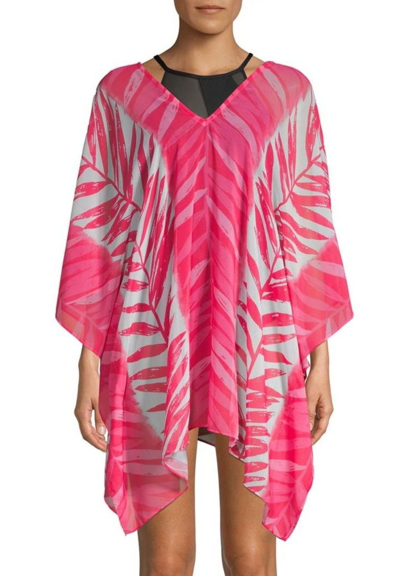 Graphic Caftan Cover-Up