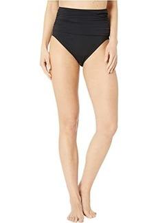 Carmen Marc Valvo High-Waist Bikini Bottoms w/ Ruching Smooth Shaping Liner