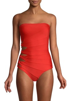 Carmen Marc Valvo One-Piece Bandeau Swimsuit