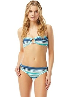 Carmen Marc Valvo Palermo Waters Stripe Bandeau Top with Removable Soft Cups and Detachable Straps