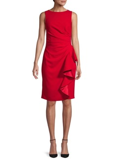 Carmen Marc Valvo Ruffle Sheath Dress