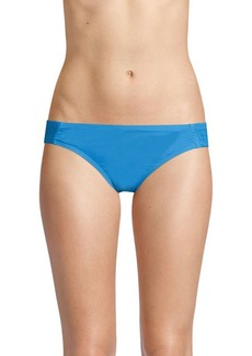 Carmen Marc Valvo Side Smocked Bikini Bottom