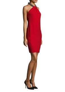 Carmen Marc Valvo Toga Cocktail Dress