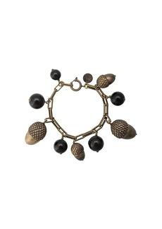 Carolina Herrera acorn motif beaded bracelet