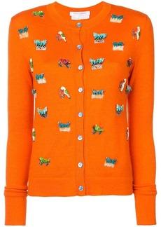 Carolina Herrera animal embroidery cardigan