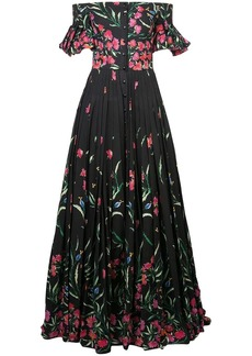 Carolina Herrera bardot floral dress