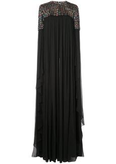 Carolina Herrera beaded panel gown