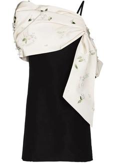 Carolina Herrera bow-detail embellished mini dress