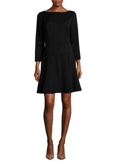 Carolina Herrera A-Line Wool Dress
