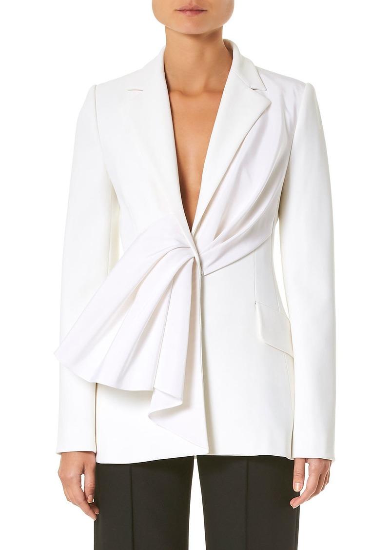 Carolina Herrera Asymmetric Draped Ruched Jacket