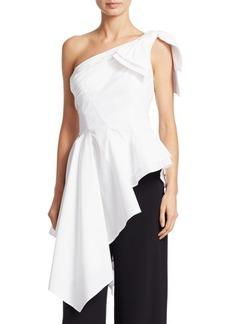 Carolina Herrera Asymmetrical Cotton Blouse