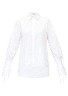 Carolina Herrera Balloon-sleeve cotton-blend poplin shirt
