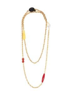 Carolina Herrera Beaded double-layer chain necklace
